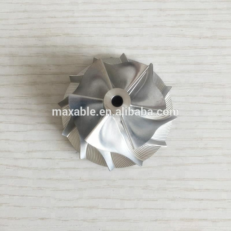 GT15-25 720915-0004/737692-0002 44.50/60.01mm 6+6 blades <strong>Racing</strong> Turbocharger Billet/milling/aluminum 2618 Compressor wheel