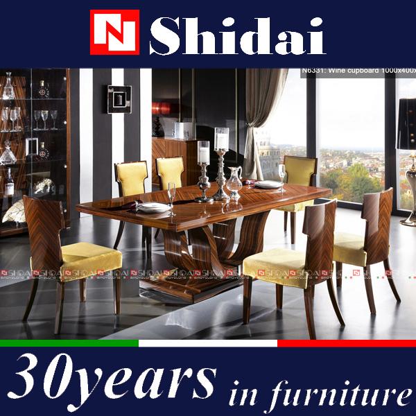 Ebony Lacquer Dining FurnitureRoyal Room FurnitureHigh End Furniture Sets