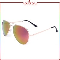 Laura Fairy Famous Branded European Cool Silver Color Frame Big Eye Metal Sunglasses