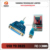 usb to db25 male parallel printer cable with driver