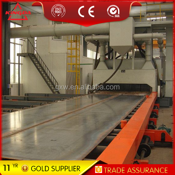 steel section and steel sheet steel plate shot blasting machine