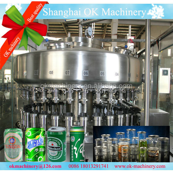 OKC-10 juice can filling machine/cans beverage filling machine