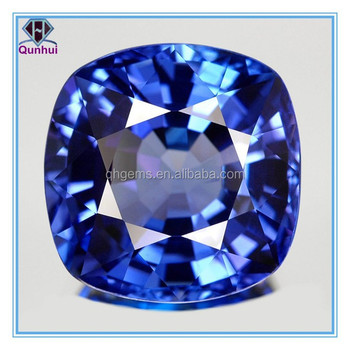 arc-square shaped blue sapphire cz zirconia stone