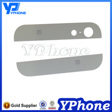Hot selling parts back cover up and down glass for iphone 5, 5G back glass lens