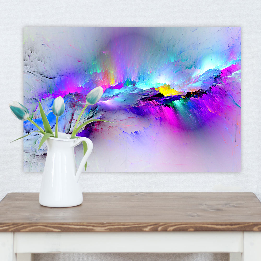 Wall Art Canvas Painting Abstract Unreal Pink Cloud Landscape Pictures For Living Room Home Decor No Frame