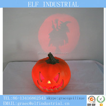 Buyers of handicraft products dongguan outdoor lighting pumpkin with witch projector