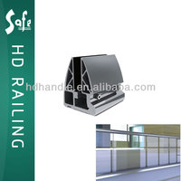 Easy to clean stainless steel glass railing channel