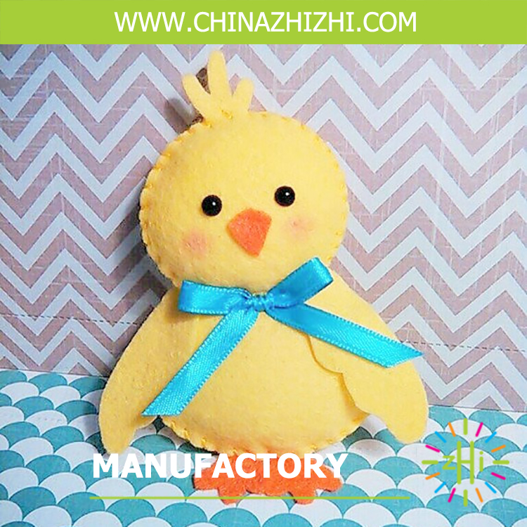 new product diy toys handmade felt small yellow duck manufacturer china