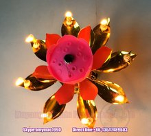 [Good sales!!!] high quality and good price lotus birthday candle with music