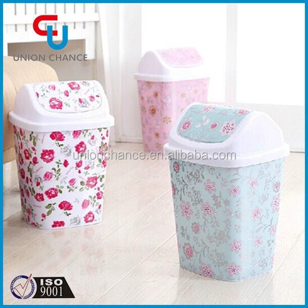 Designer Kitchen Plastic Trash Cans Trash Bin Used In