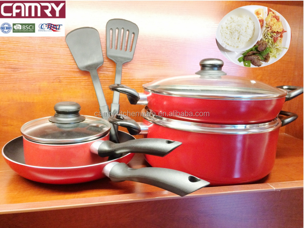 9pcs aluminum nonstick cookware sets