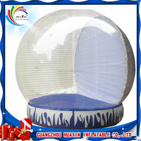 Transparent inflatable giant snow globe for christmas decorations