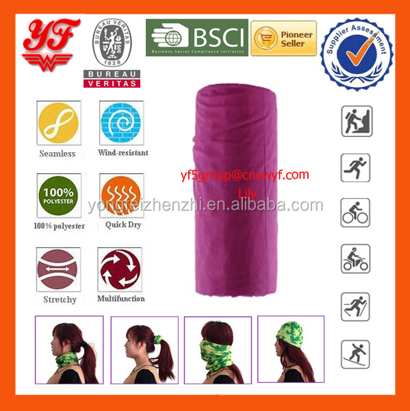 Solid Colors Multifunctional Seamless Wear Tube Neckwrap