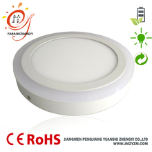 Aluminum+PMMA round bicolor 18w+6w led panel light price