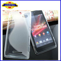 2013 New Arrival S Type Design TPU Wave Gel Skin Case Cover for Sony Xperia M C1904 C1905