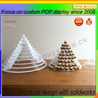 Hot Sale Promotional Acrylic Cupcake Food Display Case