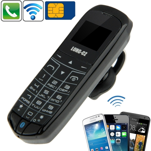 LONG CZ J8 Hands Free Bluetooth Dialer Headphone , Micro SIM, Network 2G LONG-CZ J8 GSM Mini Mobile Phone