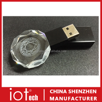 Free Sample Wholesale Engraving Logo Crystal USB Flash Drive 8GB 2TB Fast Delivery With Low Price