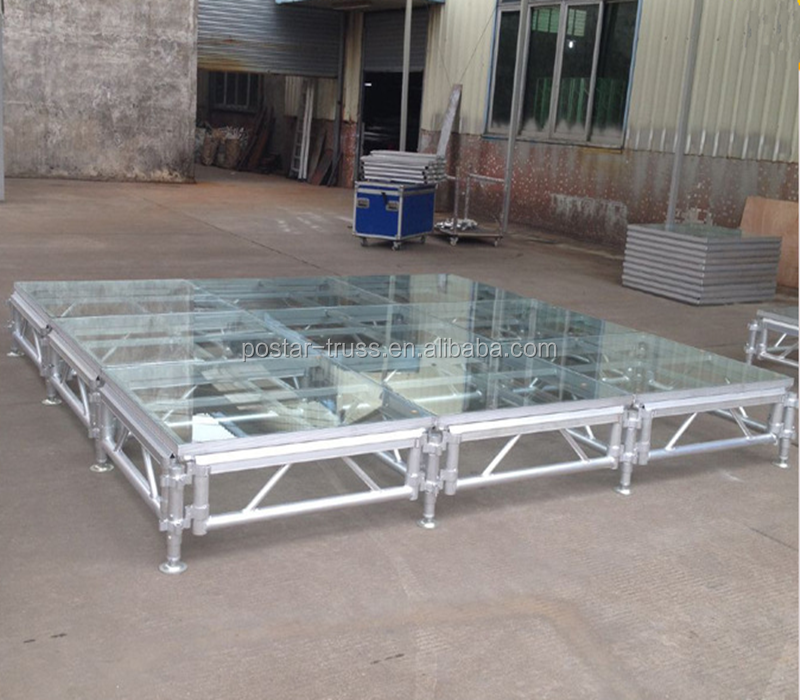 GOOD PRICE! Strong aluminum frame clear dance floor acrylic platform stage