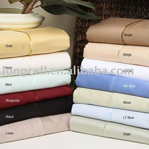 100% Egyptian Cotton feels sheet set in solid colors for home