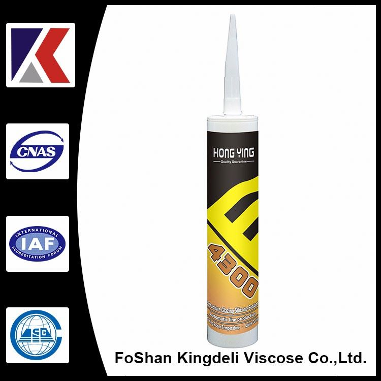 Adheres to glass curtain wall silicon sealant