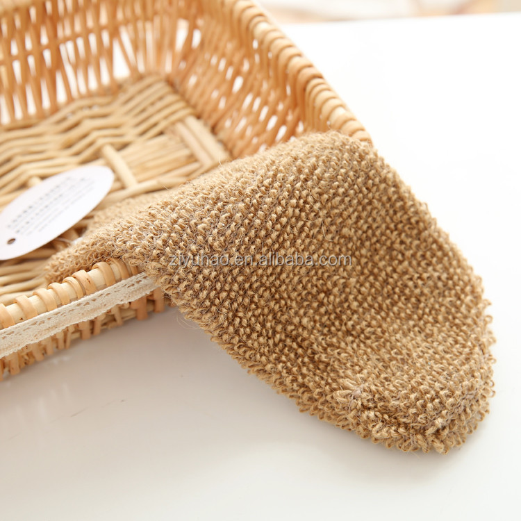 High quality stimulate bath mitt jute bath gloves