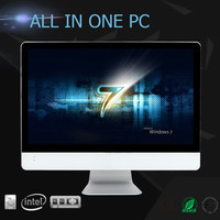 24 inch LCD 2 in 1 desktop computer i7 4500u all in one pc