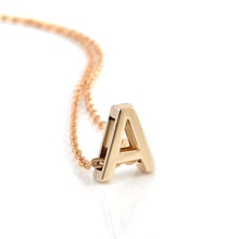 Custom A-Z 26 Personalised Tiny Alphabet Pendant Necklace Letter Initial Name Necklace