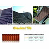 Wine red classical / bond stone coated steel roofing tile