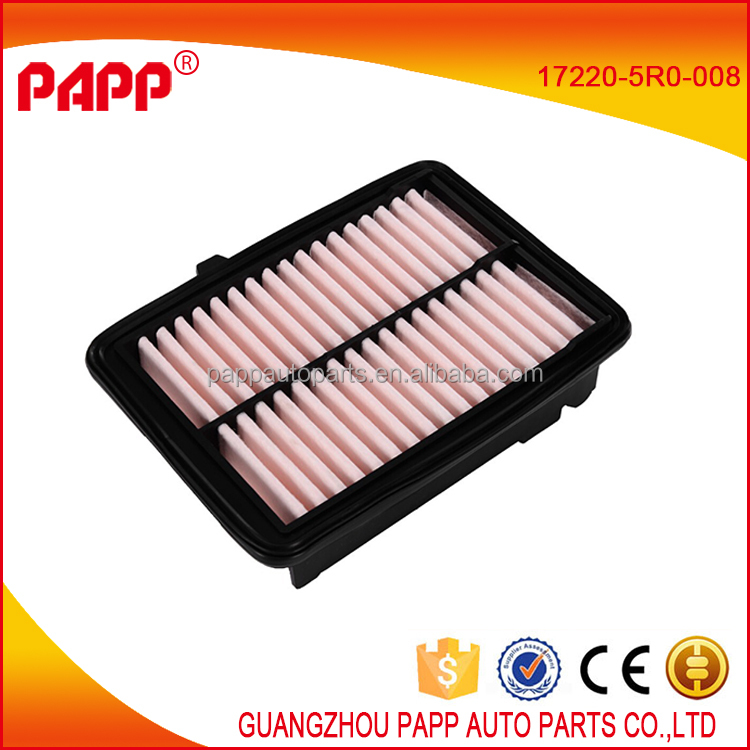 good quality car air <strong>filter</strong> for fit oem 17220-5R0-008