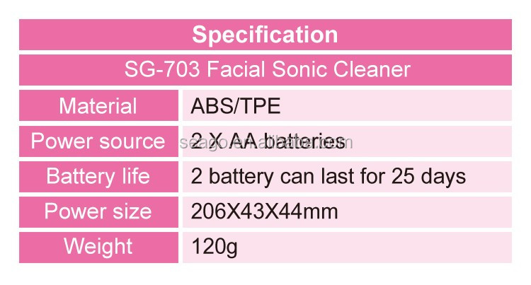 soft bristle waterproof Magic Electric rotating Facial cleansing brush SG703