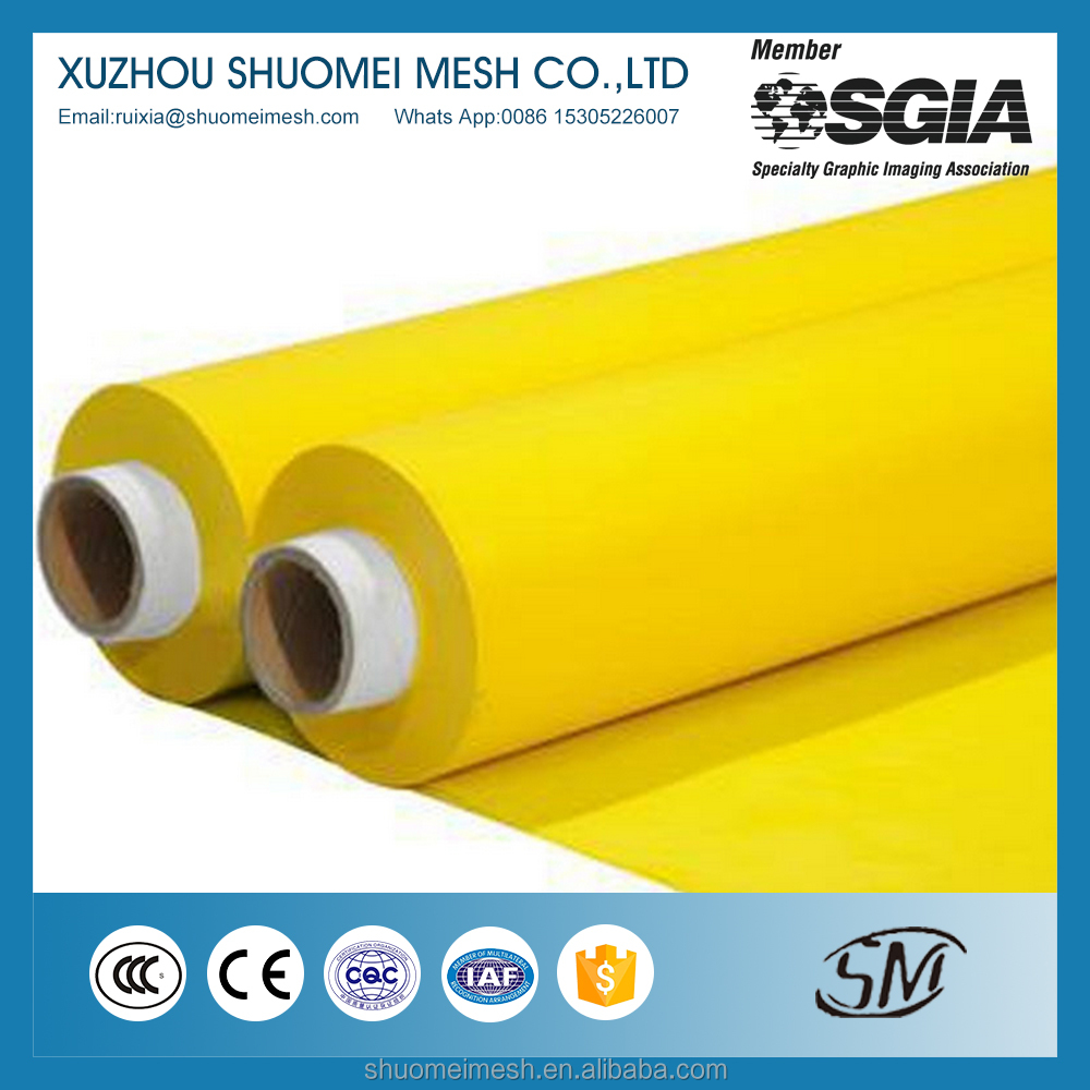 High tension Polyester screen printing mesh/Bolting cloth/polyester monofilament silk printing mesh