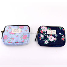 Languo shivering flowers jean style coin bag /heart shape coin purse / for wholesale Model:LGHN-2558