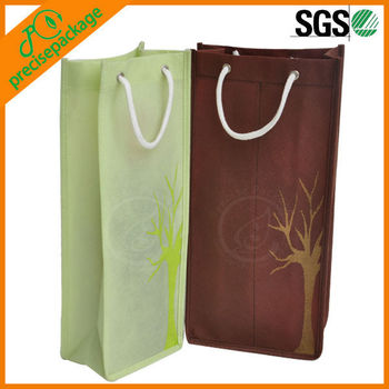 Eco-Friendly Recycled wholesale promotional Non Woven two bottle wine bag