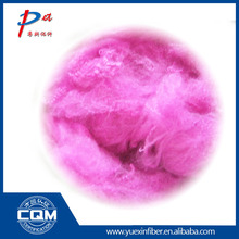 Chinese supplier achievement of prompt pink colored fiber environmentally friendly low melt fiber