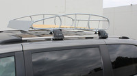 Universal Roof Rack Cargo Car Top Luggage Holder Carrier Basket Vintage Wood