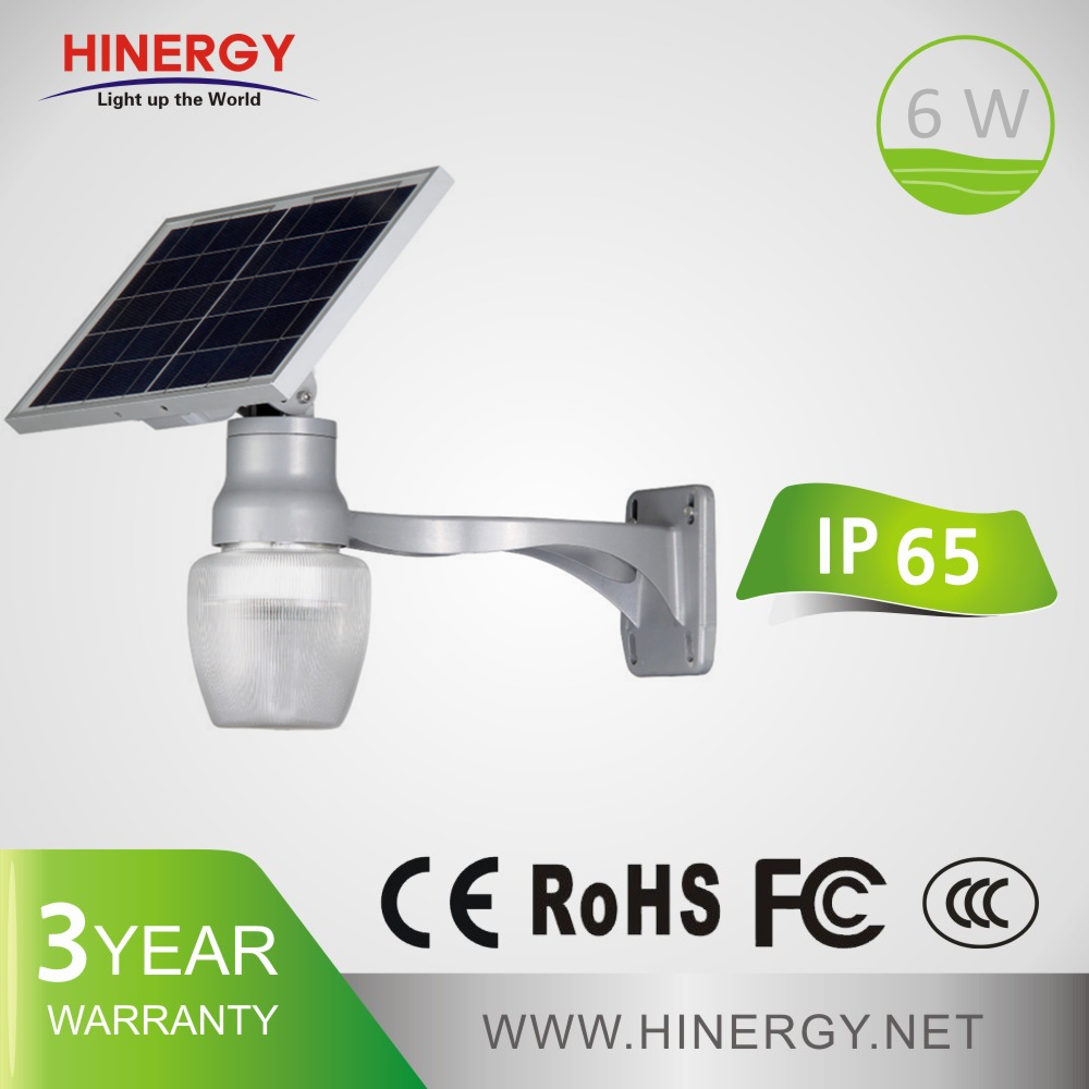 6w solar courtyard light 6W home outside solar powered light