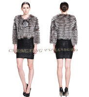CX-G-A-210 Genuine Sliver Fox Fur Fashion Cheap Clothes Women