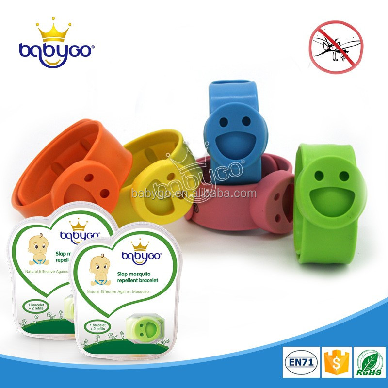 Eco-friendly for baby 100% essential oil slap mosquito repellent bracelet edible silicone