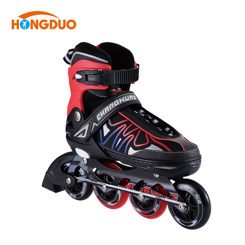 Wholesale flashing land quad roller skates, eco-friendly inline speed skate for sale
