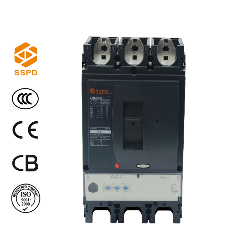 Manufacturer good quality three phase NSX 400A MCCB 3p molded case circuit breaker