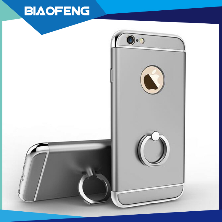 2017 new designs electroplating ring holder combo cover phone case for apple iphone 5/5s/6/6plus/6s/6splus