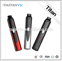 No Flame Electric Cigarette Refills Titan Portable Dry Herb Vaporizer E-Cigarette With Digital Display