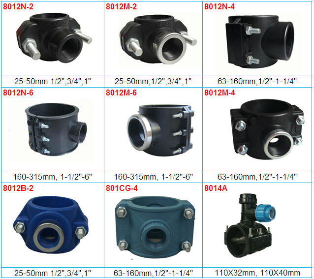 Hdpe pipe fitting saddle clamp view oem