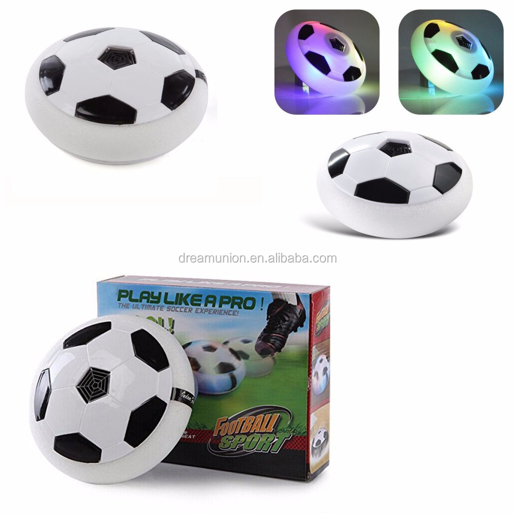 Air Power Soccer Disk With Led Ball Light Up ball Hover Disc Great Present Amazing