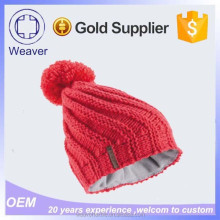 High Quality Unisex China Wholesale 100 Acrylic Knit Baby Beanie Hats With Polar Fleece