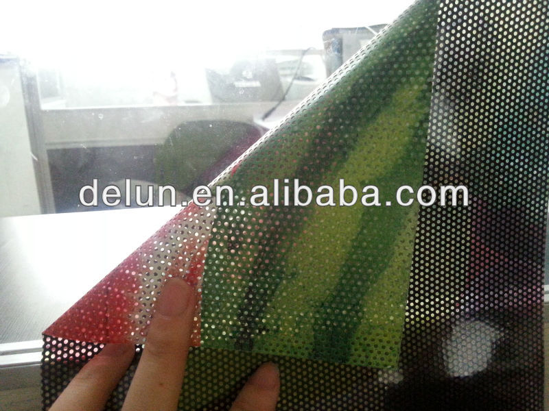 interior one way vision clear film,one way vision mesh, two way vision perforated window film