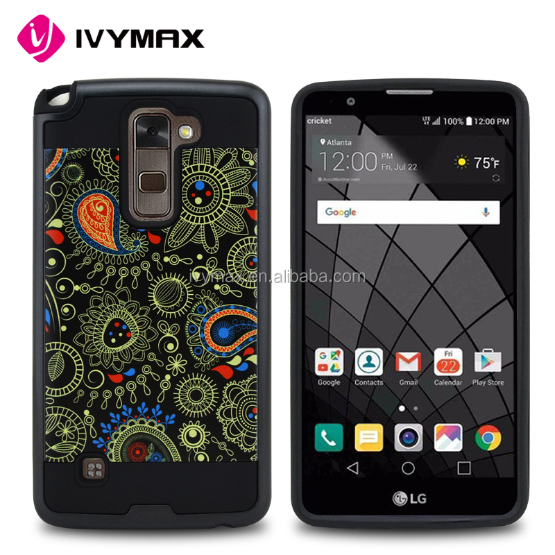 Wholesale china import phone case durable hard hair line pc printing supcase for LG stylo2 plus