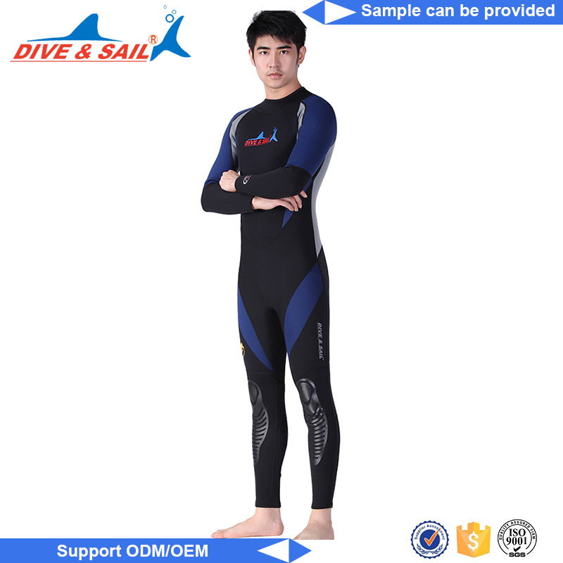 Custom logo men neoprene zipper wetsuit neoprene smooth skin spearfishing wetsuit