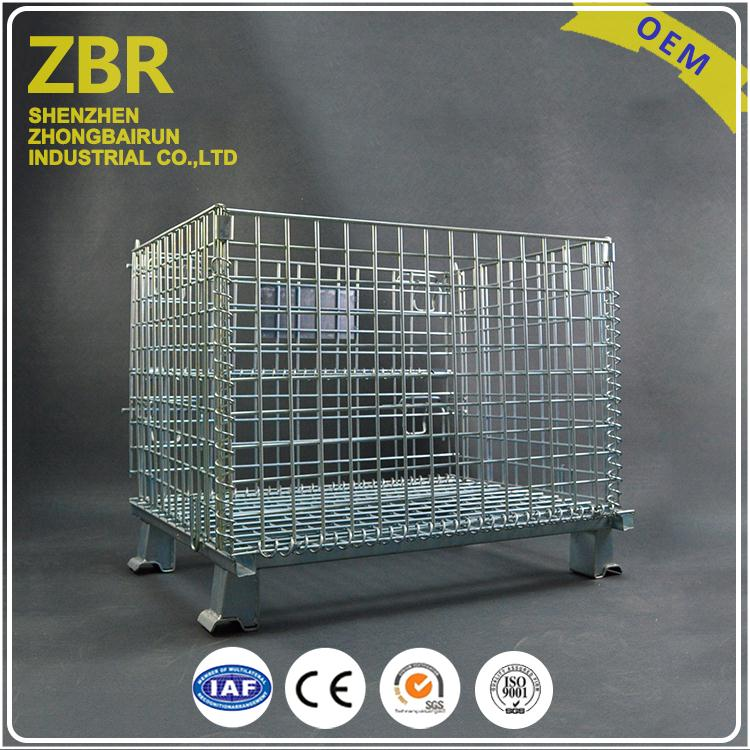 Pallet Wire Mesh Bulk Warehouse Stillage Storage Cage heavy Duty Used Cages for Sale